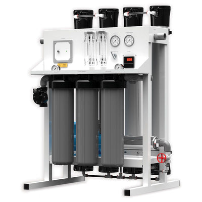 Fresh Water Commercial Reverse Osmosis System by AXEON 7000 gpd - 220 Volt