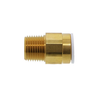 John Guest Brass Male Connector NPT - 1/2 CTS x 1/2 NPT