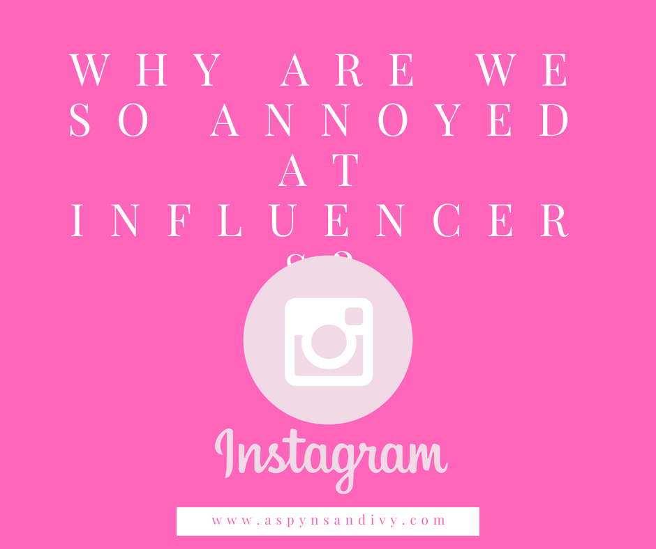 Why are we so bothered by influencers?