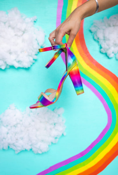 Say it Louder Rainbow Heels