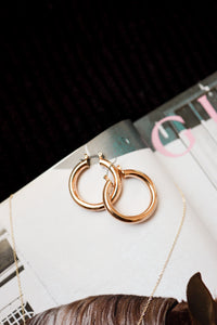 Small Tubular Gold Hoops