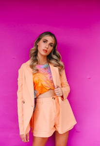 Peaches Blazer Set