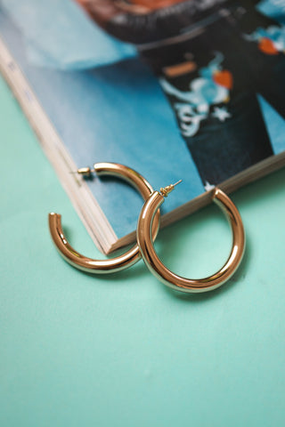 Tubular Gold Hoops
