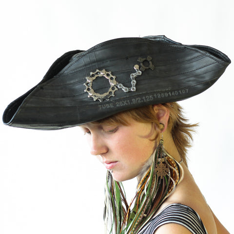 Bike Tube Pirate Hat - 2015
