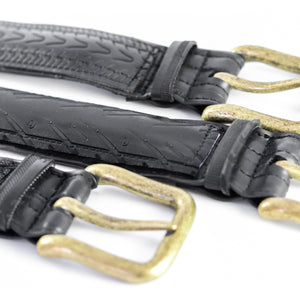 Bike Tire Belt Antique Brass Buckle
