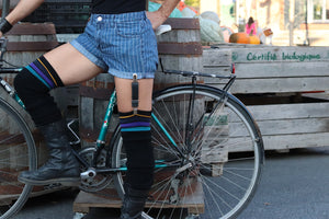 Bike Tube Garter Belt Clips