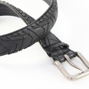Bike Tire Belt Antique Silver Buckle