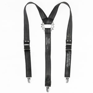 Bike Tube Suspenders with Gear Detail