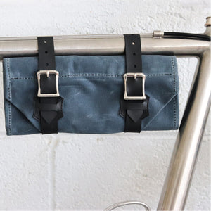Tool Roll in Gray Waxed Canvas
