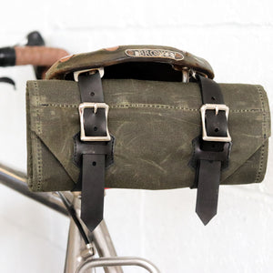 Tool Roll in Olive Waxed Canvas