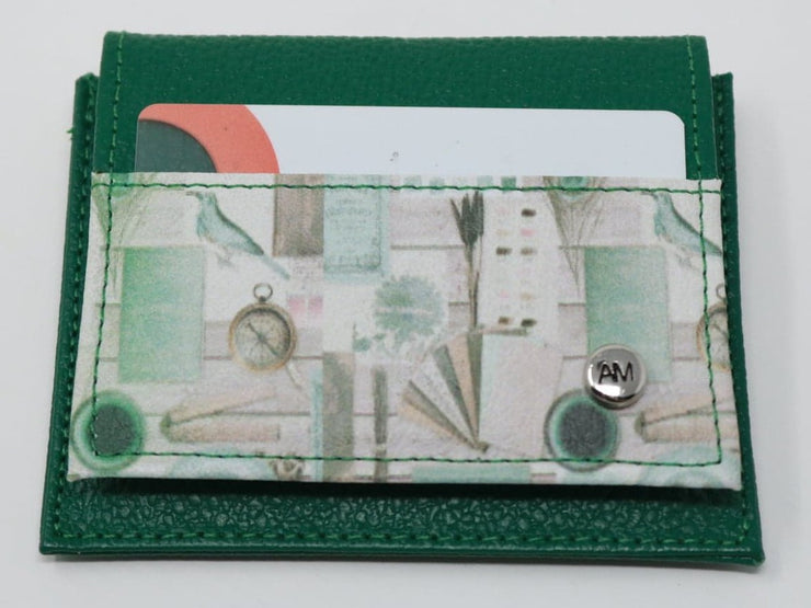 CLOCK GREEN-CARDHOLDER