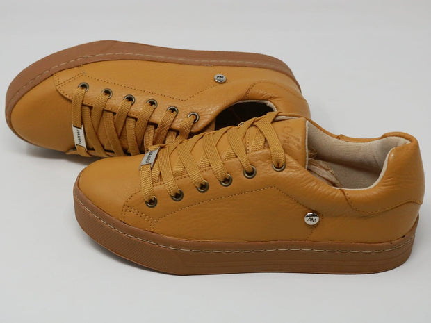 MUSTARD LEATHER-SNEAKERS