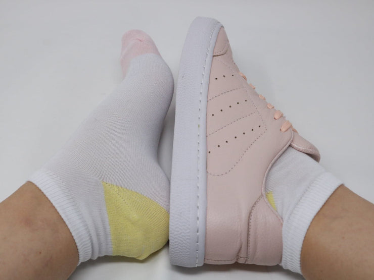 Pink-Yellow/Ankle Socks