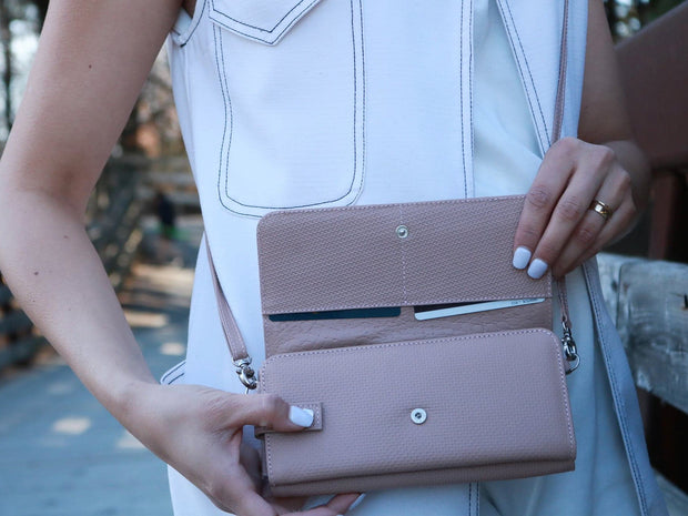 Nude Leather-Wallet Purse