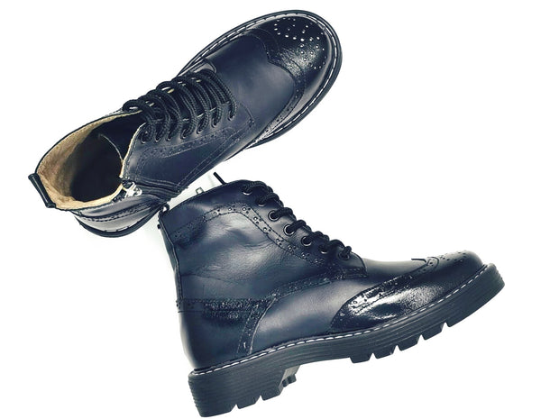 boots black style combat