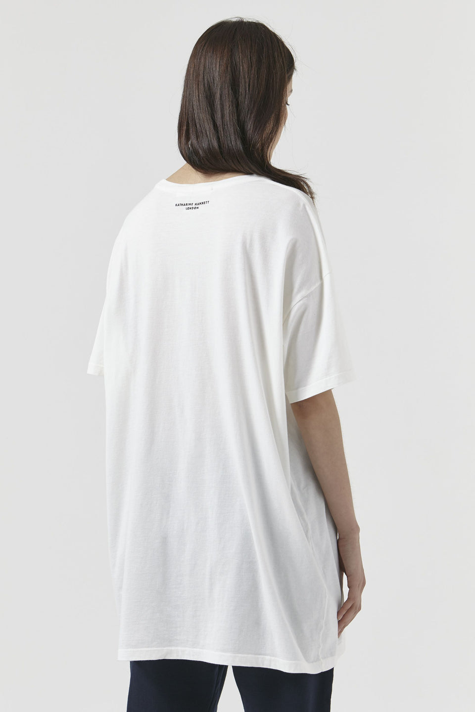 ALE Milk White T-Shirt Luxury T-Shirt Katharine Hamnett London - der ZEITGEIST