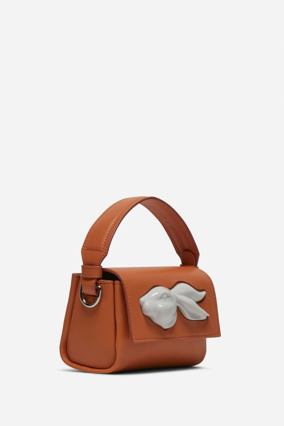 Mini Flap Rabbit Head Bag - Yam