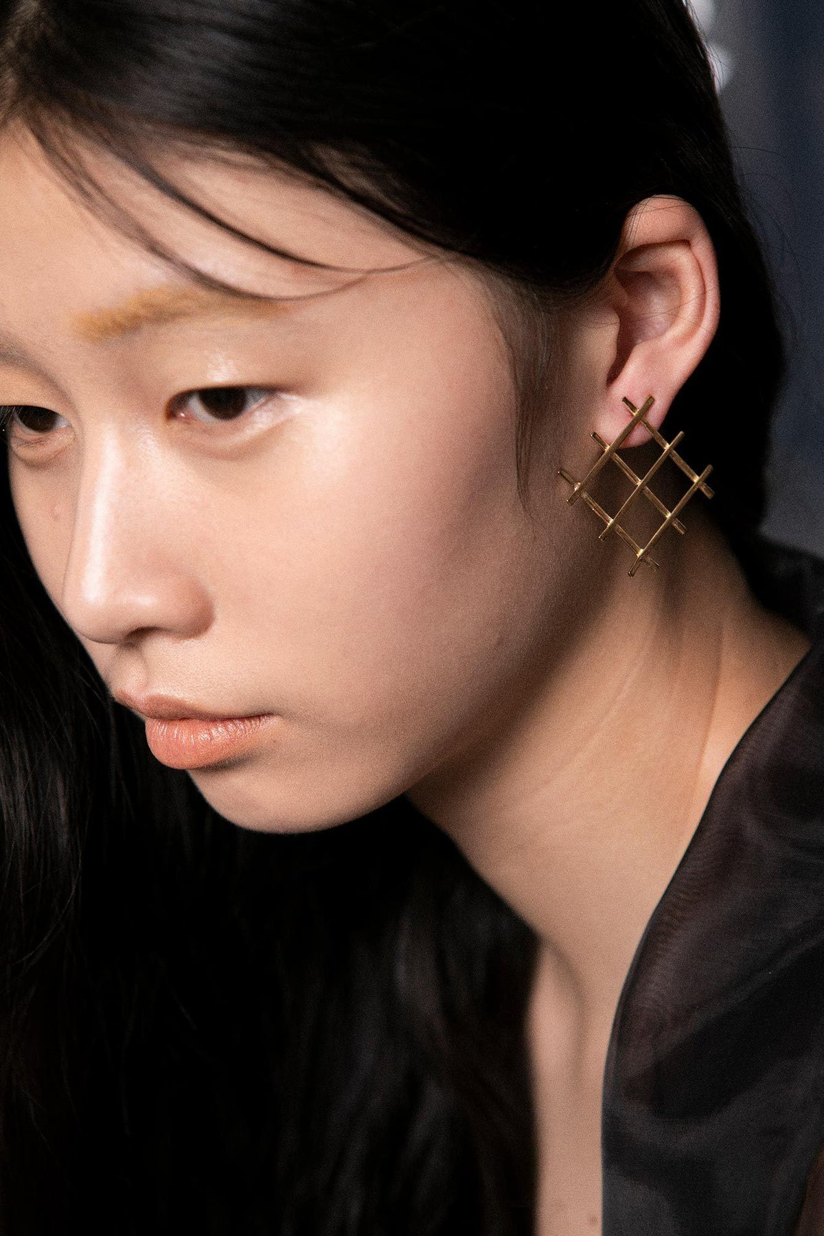 Grid Earrings (18k Gold)