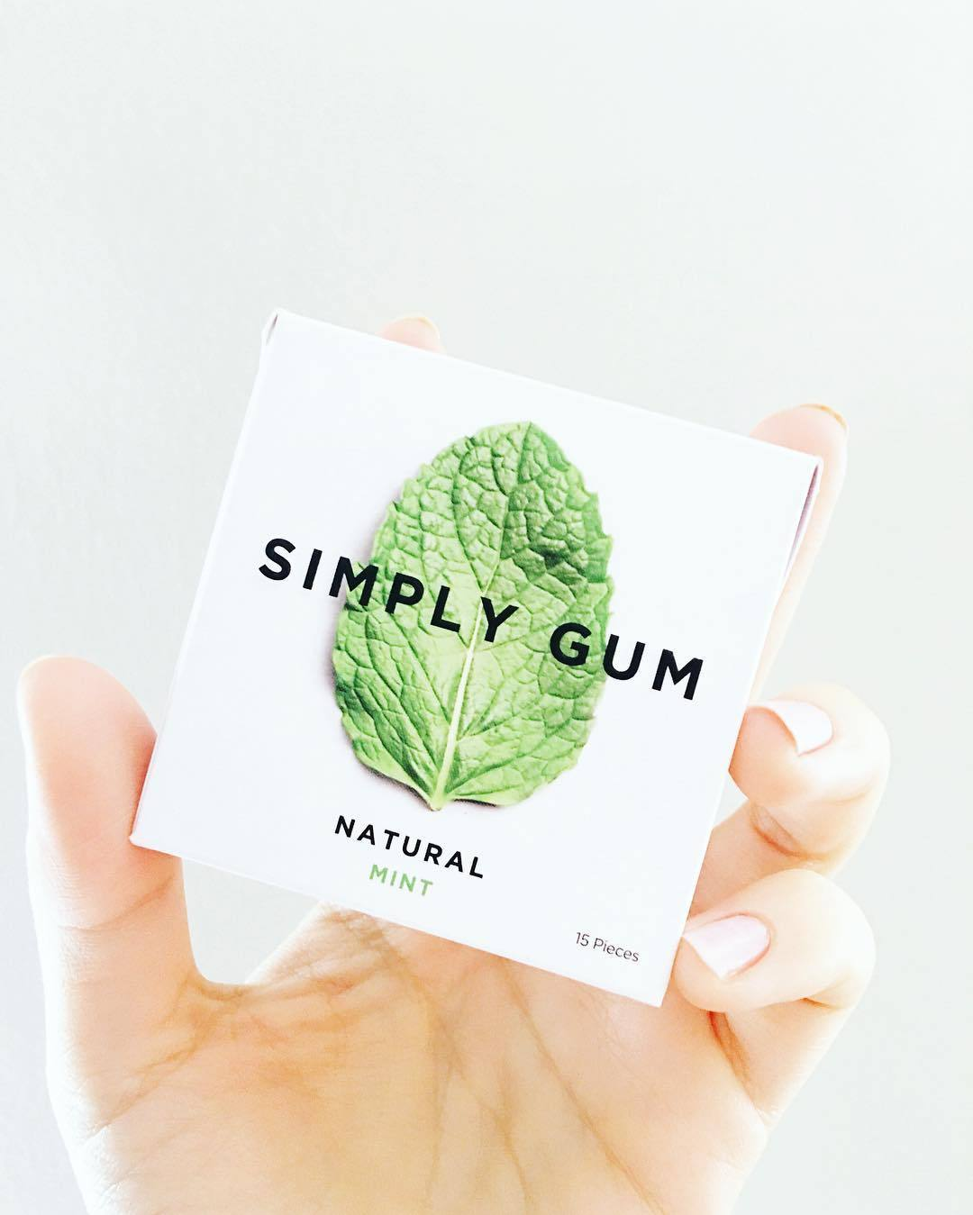 Natural Peppermint Gum (3 Packs)