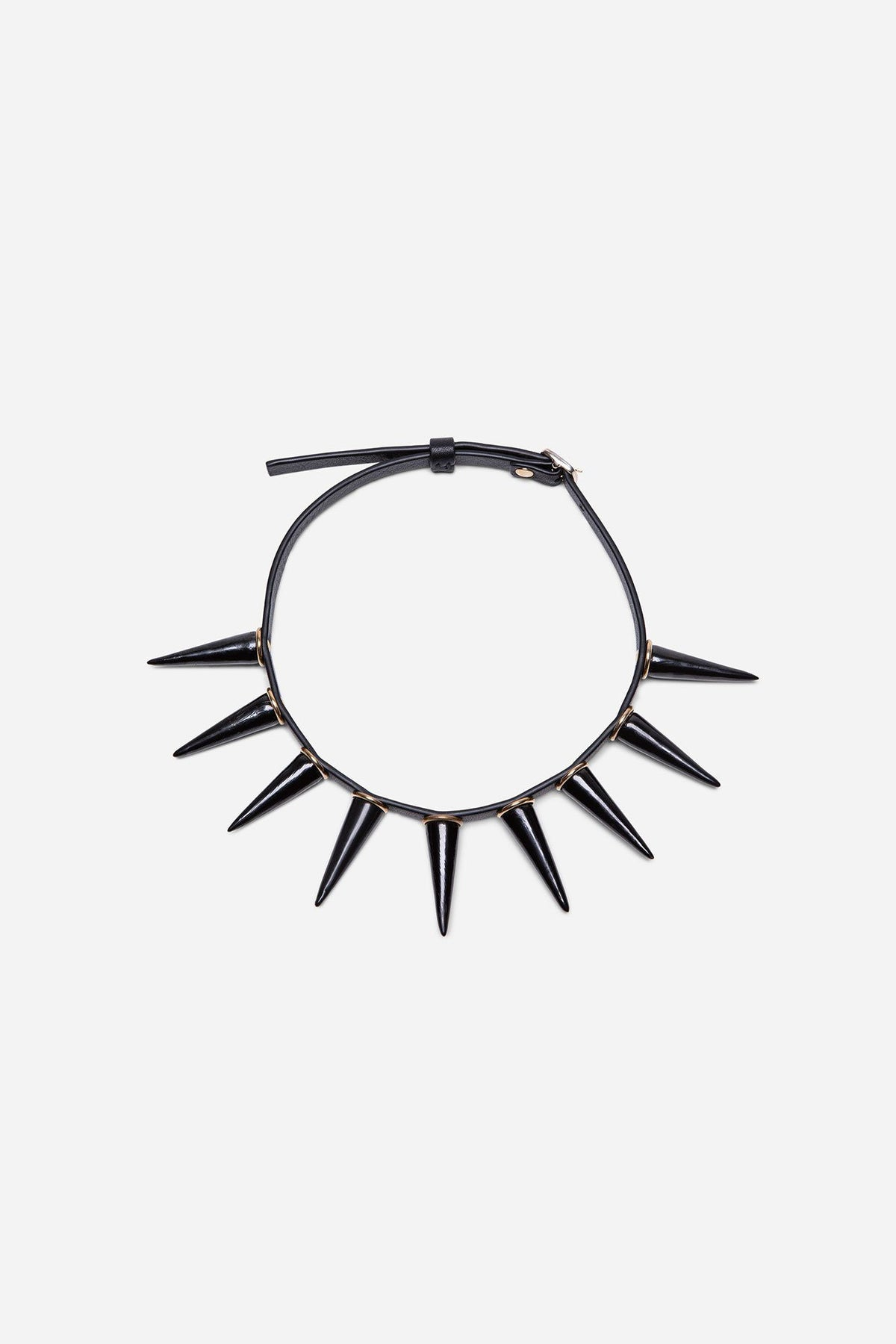 Porcelain Spike Leather Choker