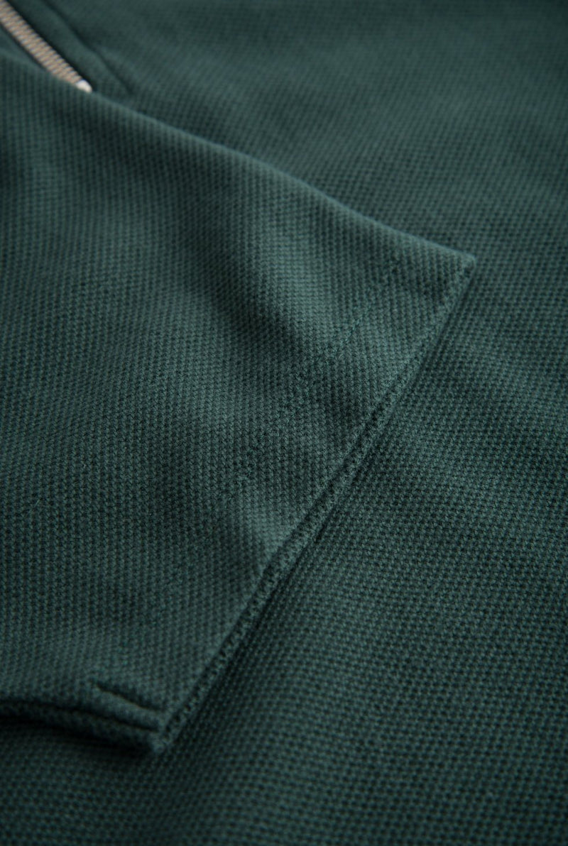 Bower Polo Shirt Dark Green Polo Shirt Wood Wood - der ZEITGEIST