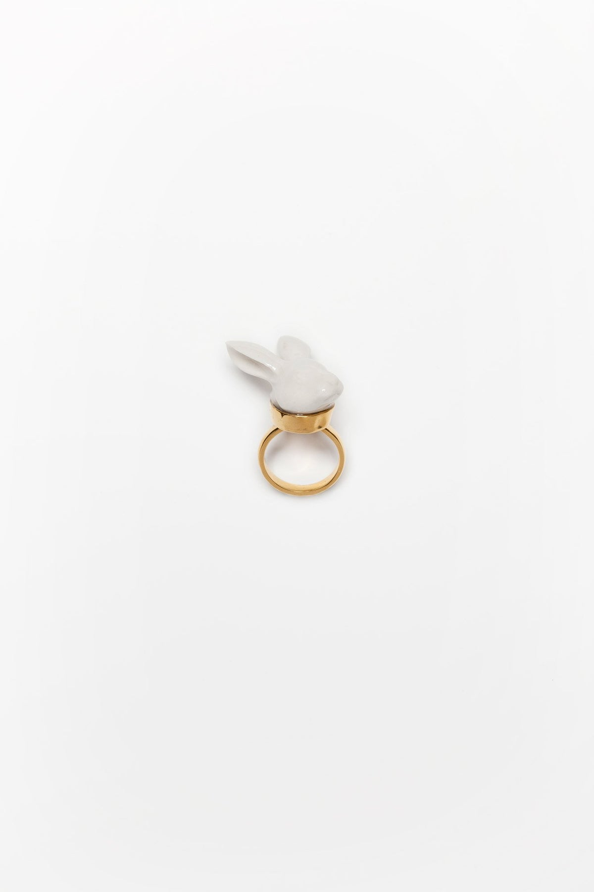 Rabbit Head Adjustable Ring Jewellery Andres Gallardo - der ZEITGEIST