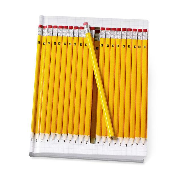 Notebook Hidden Yellow Pencils Stationary MoMA - der ZEITGEIST