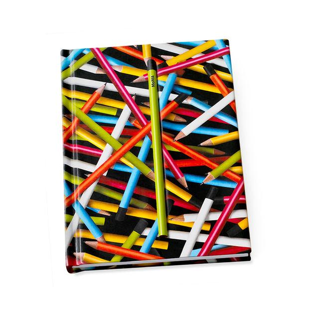 Notebook Hidden Coloured Pencils Stationary MoMA - der ZEITGEIST