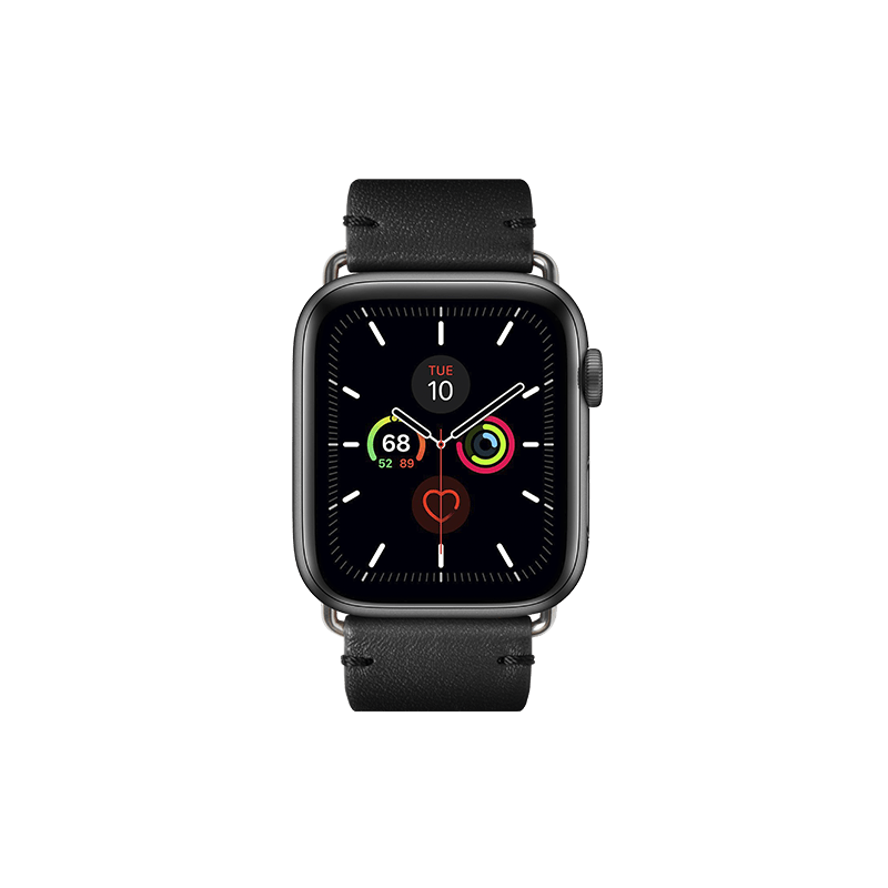 Classic Leather Apple Watch Strap (42/44mm) - Black