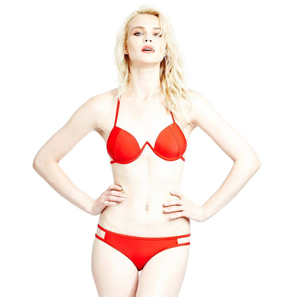 Arc Top & Bottom Red Swimwear Chromat - der ZEITGEIST