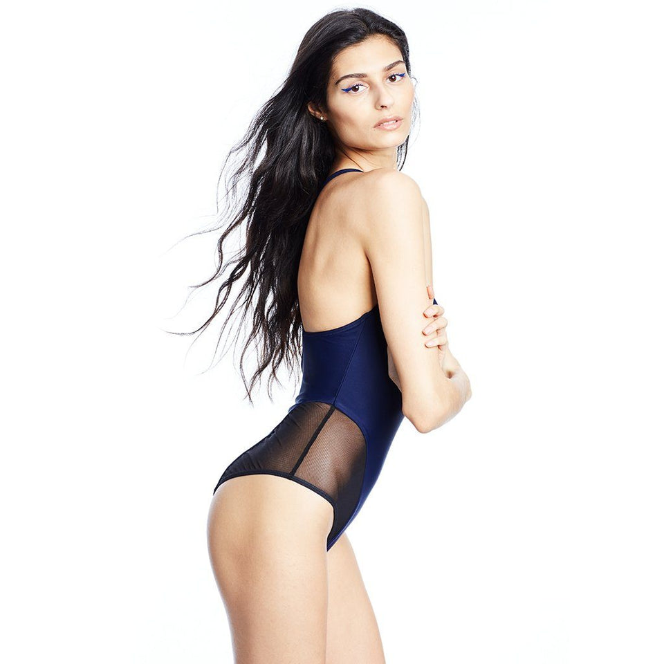 Delta X Swimsuit Navy Swimwear Chromat - der ZEITGEIST