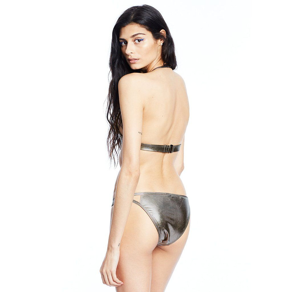 Outline Bikini Top & Bottom Metallic Silver Swimwear Chromat - der ZEITGEIST