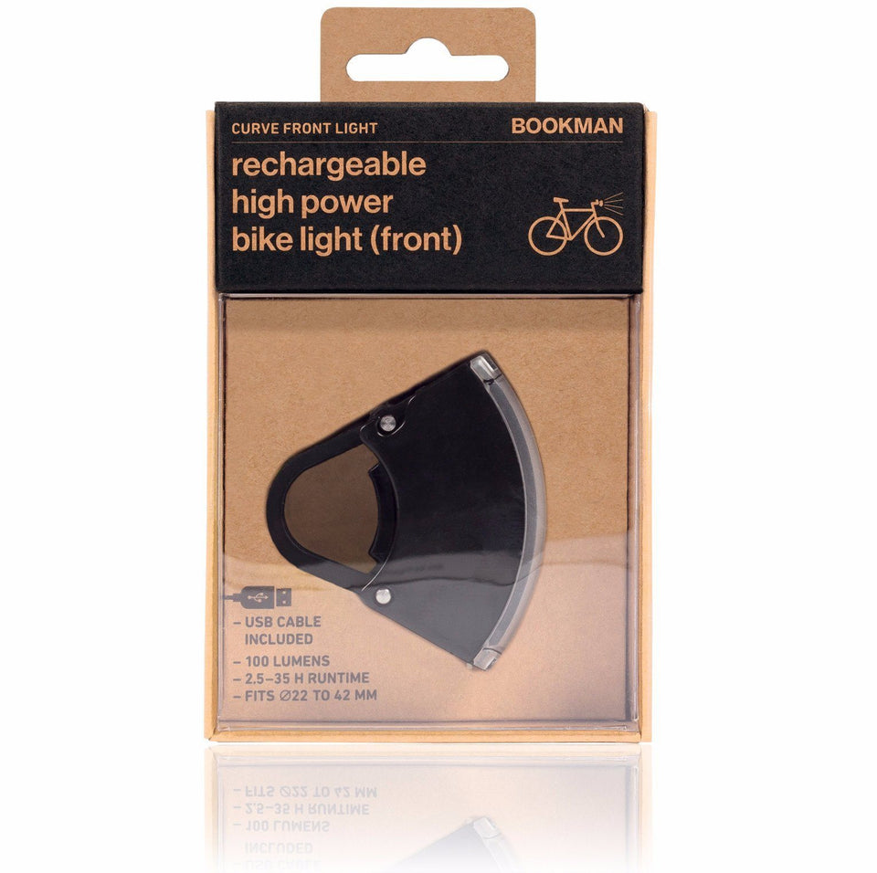 Curve Bike Light Front: Black/Black Bicycle Light Bookman - der ZEITGEIST