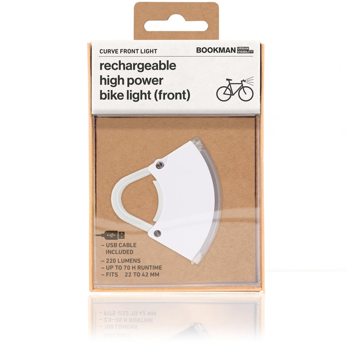 Curve Bike Light Front: White