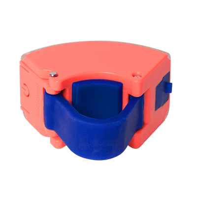 Curve Bike Light Front: Neon Coral Pink/Dark Blue Bicycle Light Bookman - der ZEITGEIST