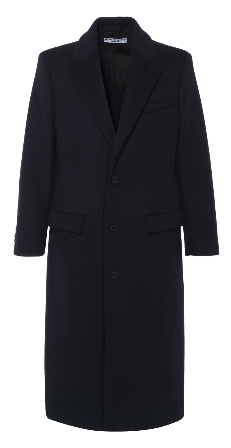 DARWALL Navy Recycled Wool Coat Coat Katharine Hamnett London - der ZEITGEIST