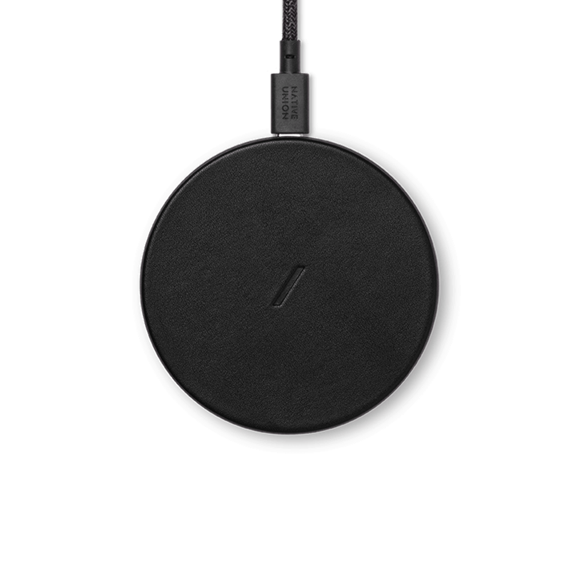 Drop Classic Leather Wireless Charger - Black