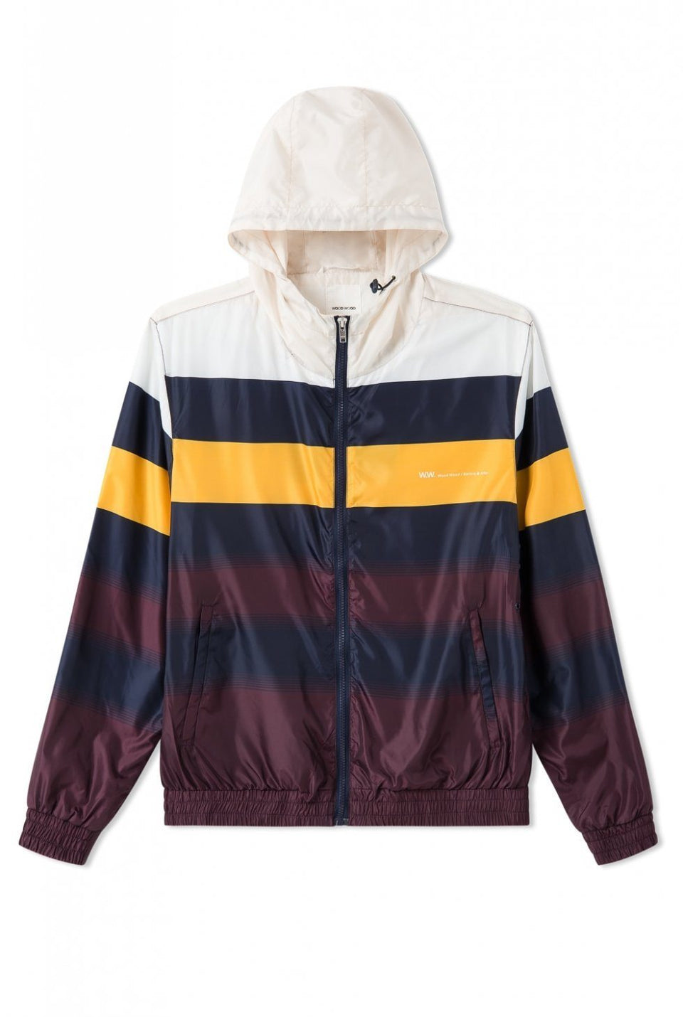 Emmett Jacket Navy Stripe Jacket Wood Wood - der ZEITGEIST