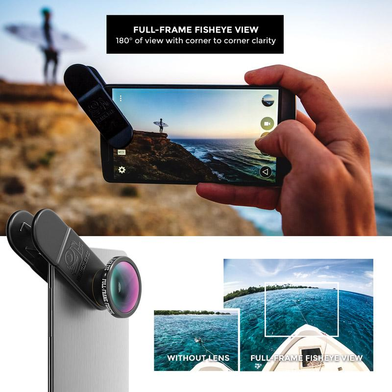 Full-Frame Fisheye Smartphone Camera Lens Lens Black Eye - der ZEITGEIST