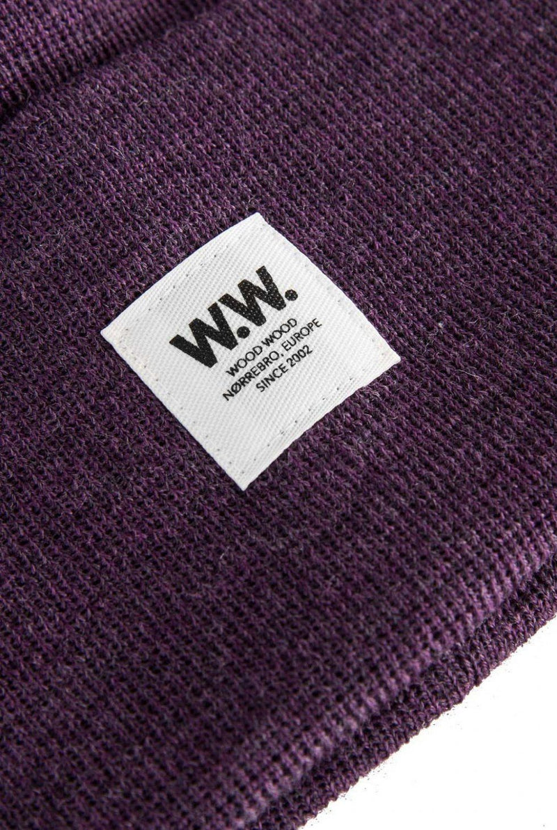 Gerald Tall Beanie Purple