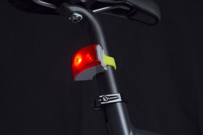 Curve Bike Light Rear: Grey/Acid Yellow Bicycle Light Bookman - der ZEITGEIST