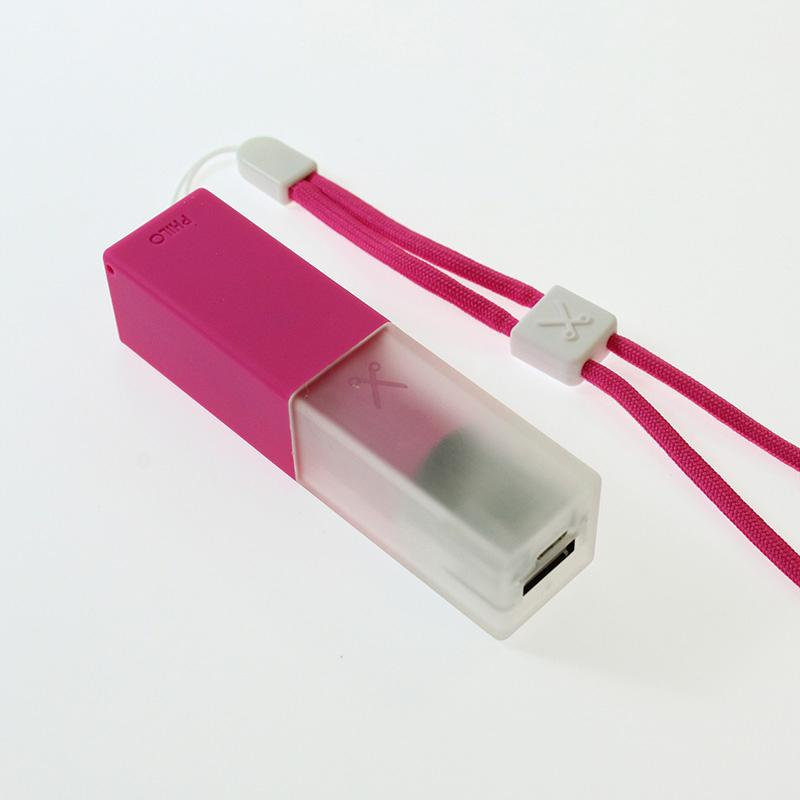 Travel Smartphone Power Bank: Pink