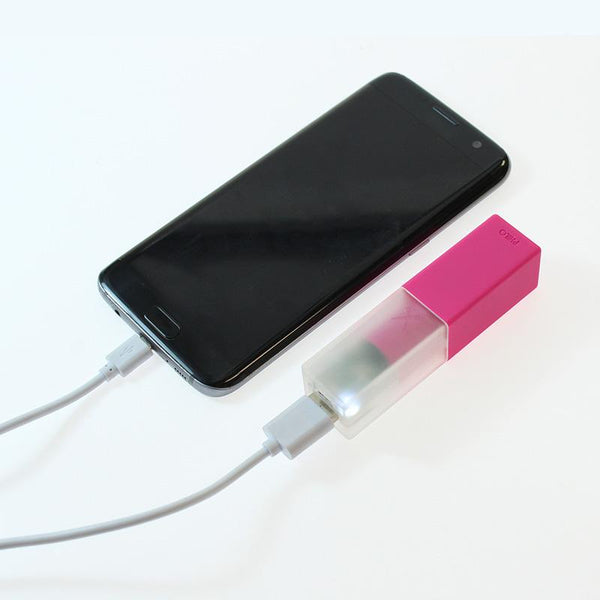 Travel Smartphone Power Bank: Pink Powerbank Go Philo - der ZEITGEIST