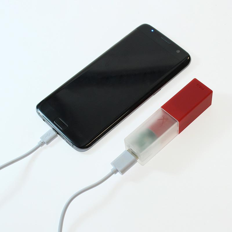 Travel Smartphone Power Bank: Red Powerbank Go Philo - der ZEITGEIST