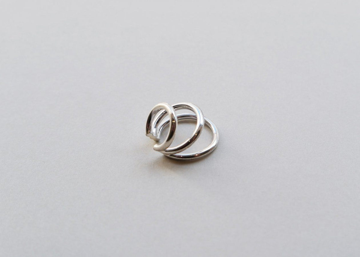 Bold Triple Ear Cuff (Sterling Silver)