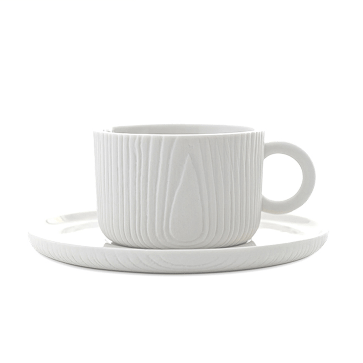 MU Coffee Cup & Saucer - White
