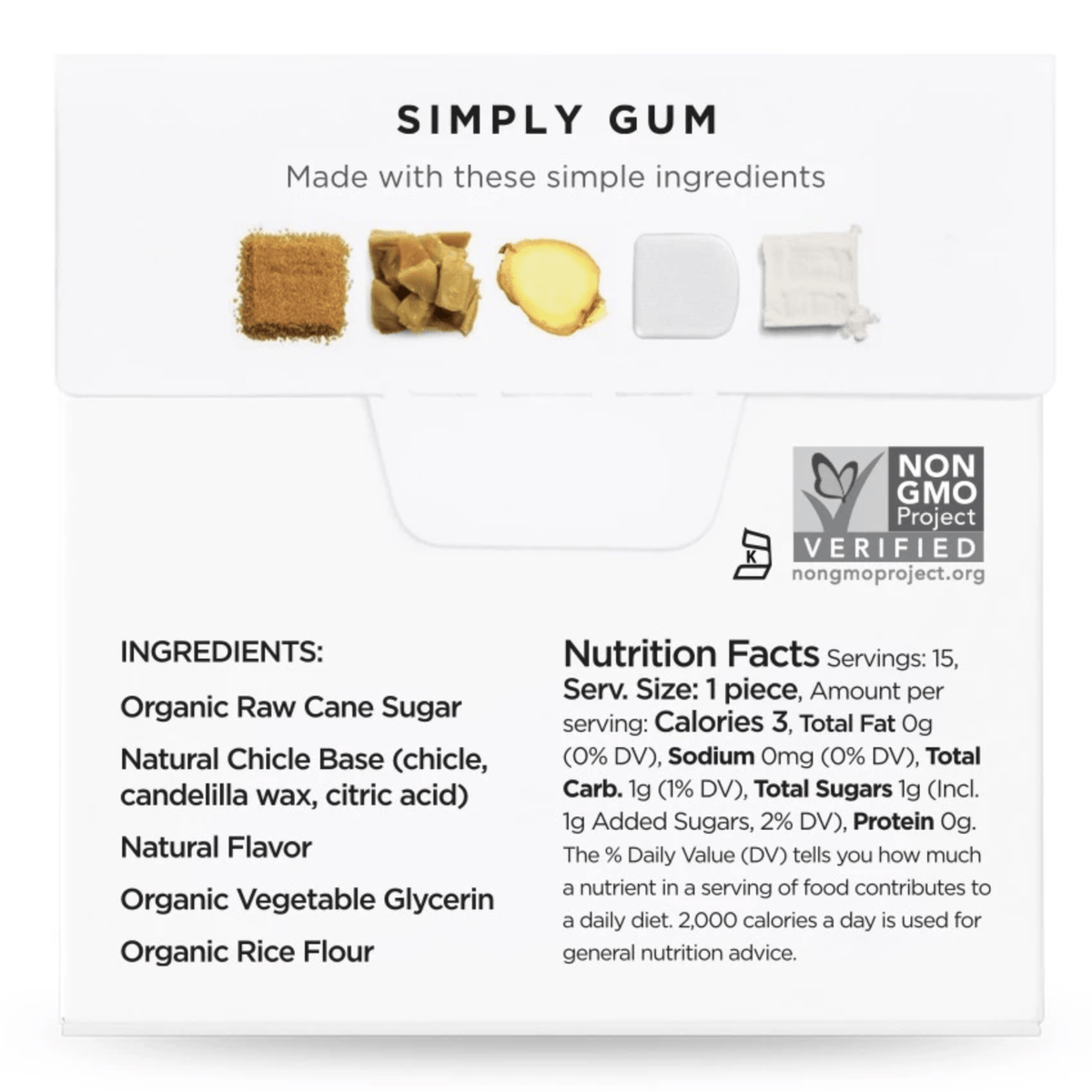 Natural Ginger Gum (3 Packs)