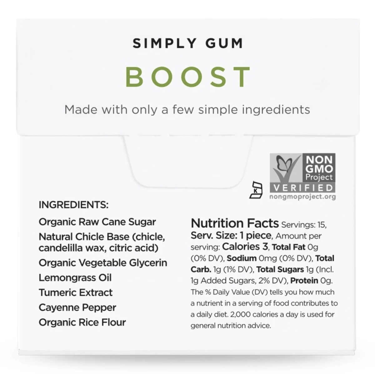 Natural Boost Gum (3 Packs)