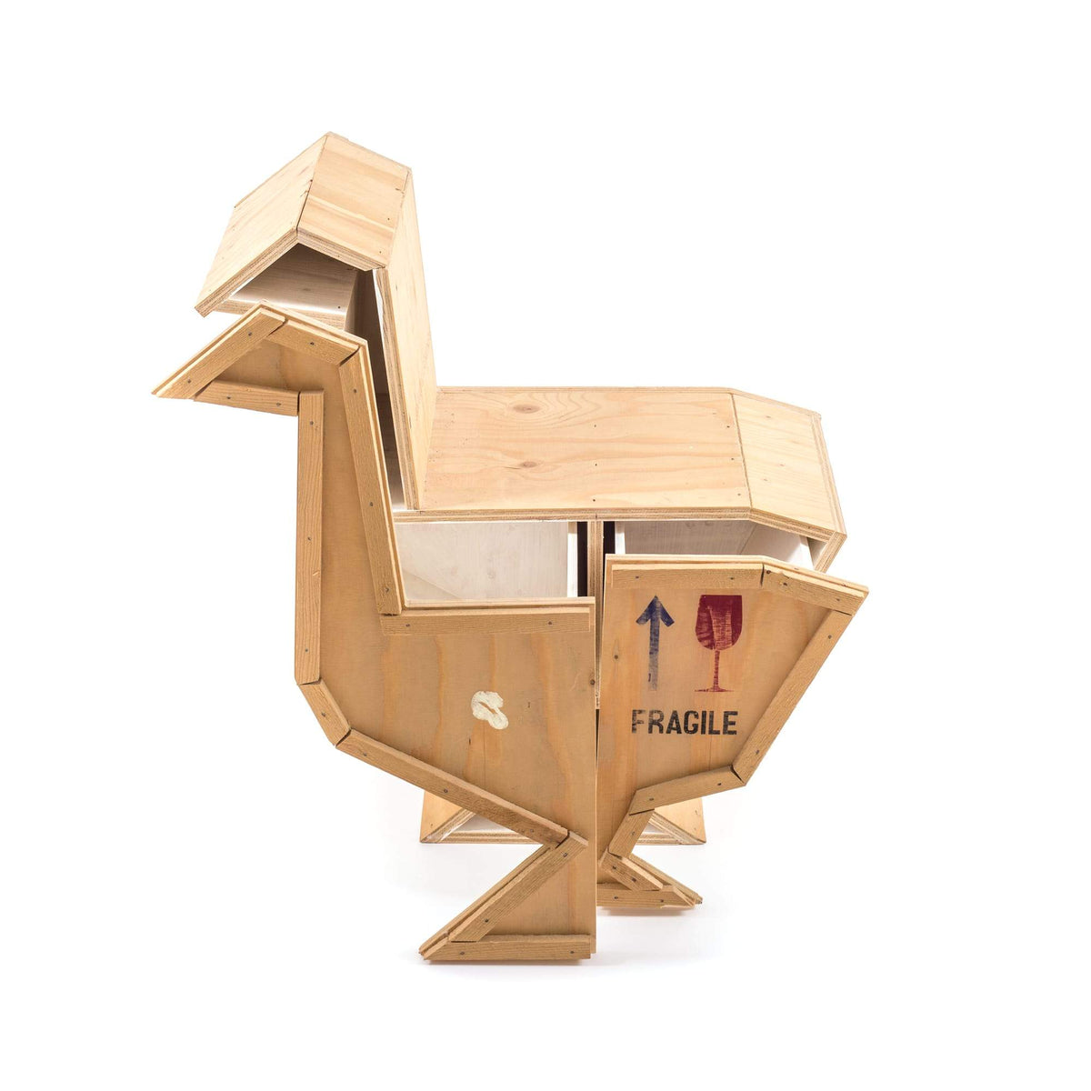 """Sending Animals"" Wooden Goose Side Table"
