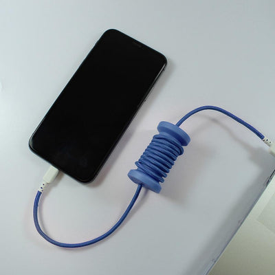 iPhone Spool Charging Cable: Midnight Blue